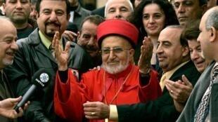 Le Patriarche Emmanuel III d'Irak, un des 23 cardinaux consacrés par le Pape, en novembre 2007.