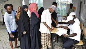 Wasu daga cikin masu zabe a ruhunan zabe a kasar Tanzania
