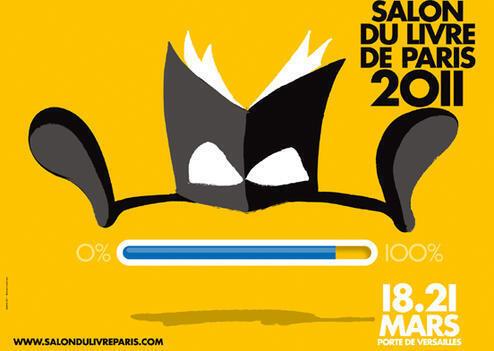 Cartel del Salón del Libro de París 2011.