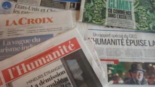 Primeiras páginas dos jornais franceses 8 de agosto de 2019
