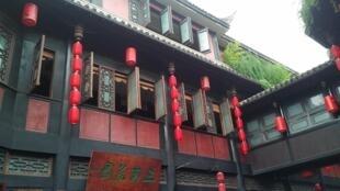 Detalle de una casa de la calle antigua Jinli. Chengdu, China 2017.