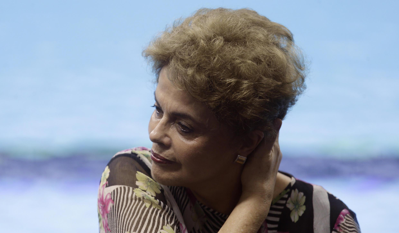 La présidente brésilienne, Dilma Rousseff, le 8 avril 2016 à Rio.