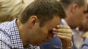 O líder da oposição Alexei Navalny nega as acusações de corrupção e denuncia um processo político..