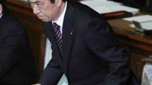 Tokyo, au Parlement, ce 2 juin 2011. Le Premier ministre Naoto Kan, après le rejet de la motion de défiance.