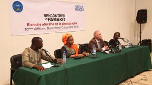 Conférence de presse des Rencontres de Bamako 2015, le 21 novembre 2014.