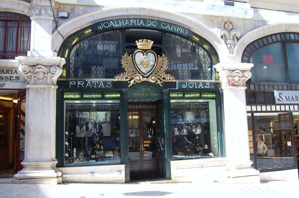 La vieille bijouterie Do Carmo de Lisbonne, une jolie boutique qui pourrait disparaître à cause des projets des promoteurs immobiliers.