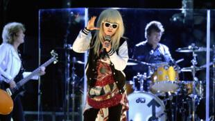 Le groupe américain Blondie et sa chanteuse Debbie Harry.