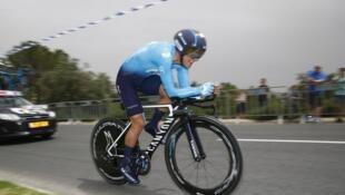 El ciclista ecuatoriano Richand Carapaz, en la 1ª etapa del Giro de Italia 2018.