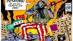 Desenho do cartunista brasileiros Carlos Lattuf.