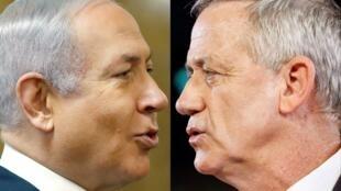 Benjamin Netanyahu na Benny Gantz wameunda serikali ya mseto, Mei 17, 2020.