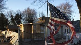 Une maison détruite par l'ouragan Sandy, à Staten Island, New York, le 4 janvier 2013.