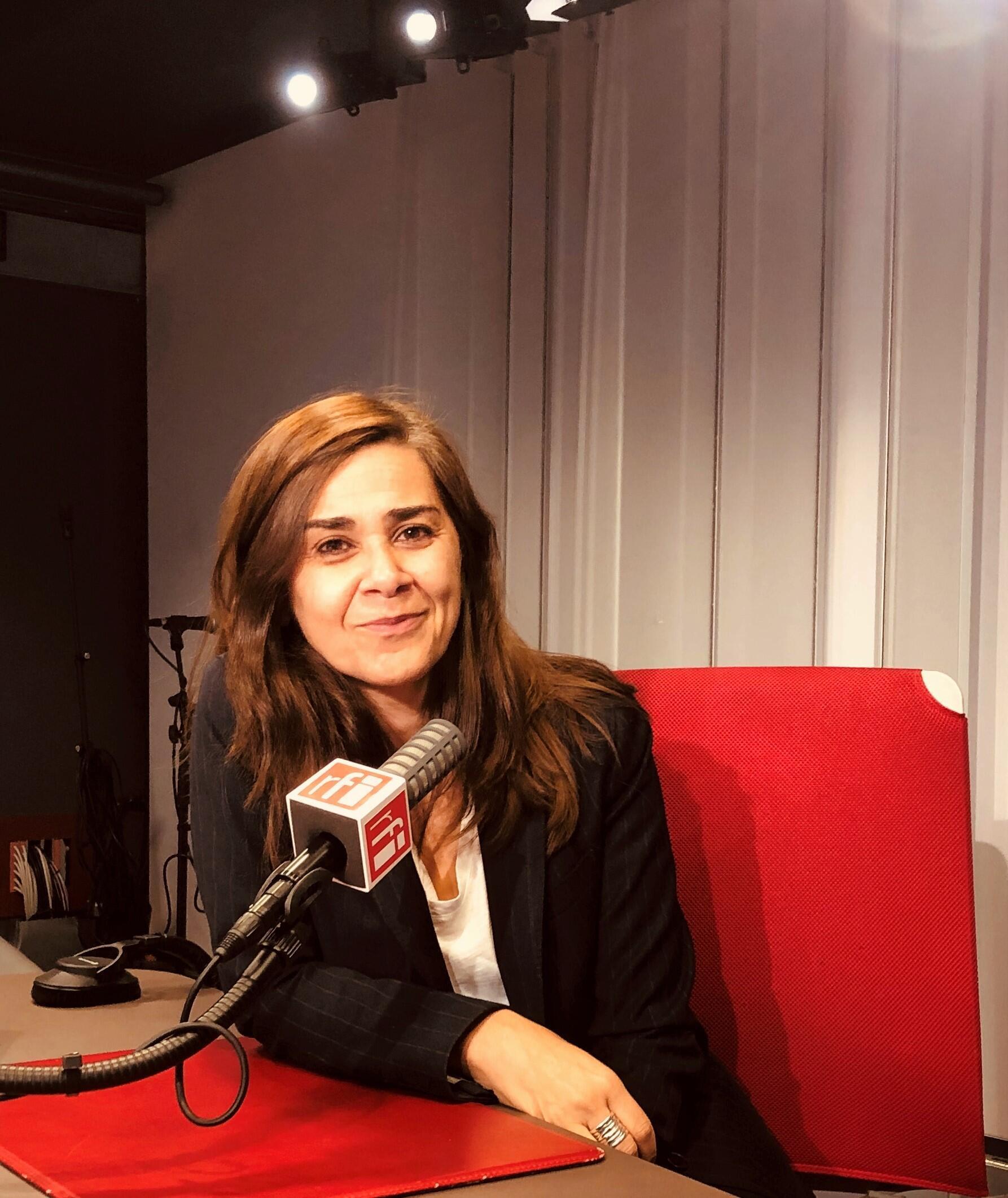 Négar Djavadi, écrivaine irano-française (gros plan)
