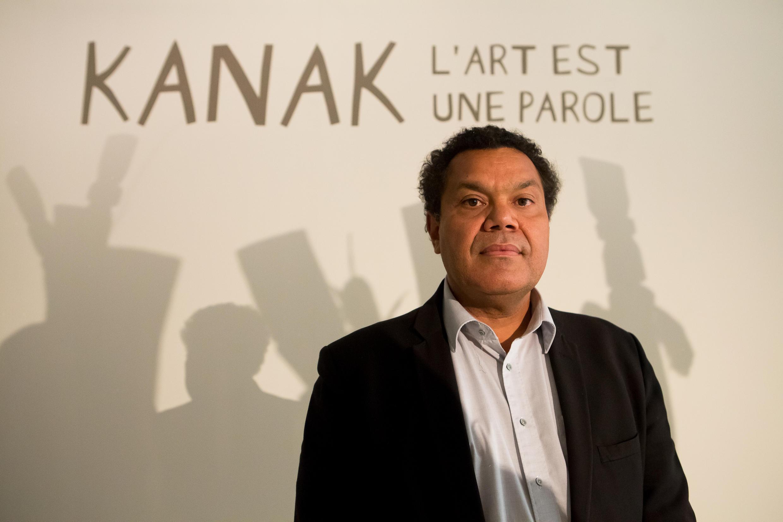 "Emmanuel Kasarhérou, in 2013, for the exhibition ""Kanak. Art is a Word."""