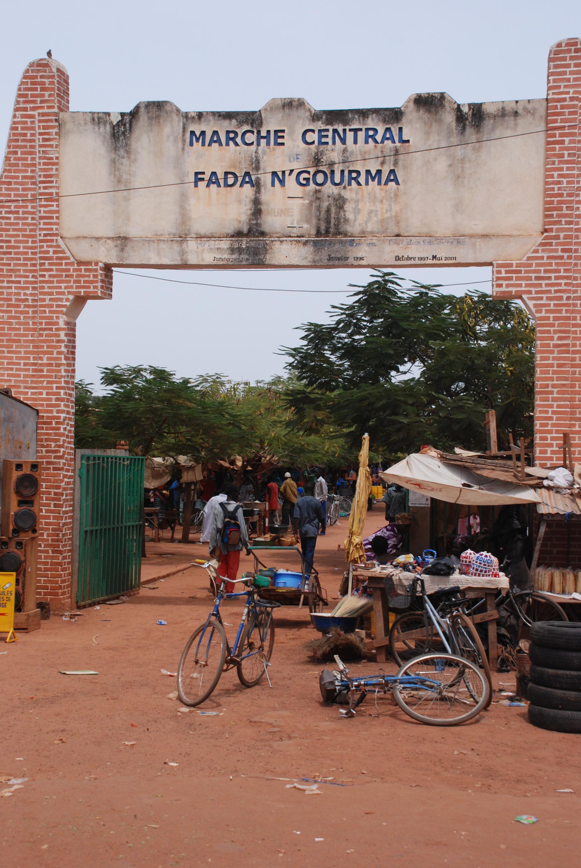 Le marché principal de la ville de Fada N'Gourma, chef-lieu de la région de l'Est au Burkina Faso. (Image d'illustration)