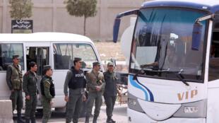 سربازان سوری در شهر دوما