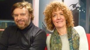 José Luis Campana e Isabel Urrutia en los estudios de RFI