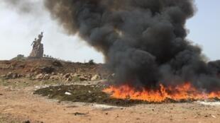 Des saisies de drogues brûlées à Dakar (photo d'illustration).