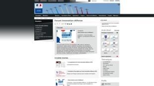 La page d'accueil du site internet du ministère des Armées, à l'origine de l'organisation du «Forum innovation défense» du 22 au 24 novembre 2018 à Paris.