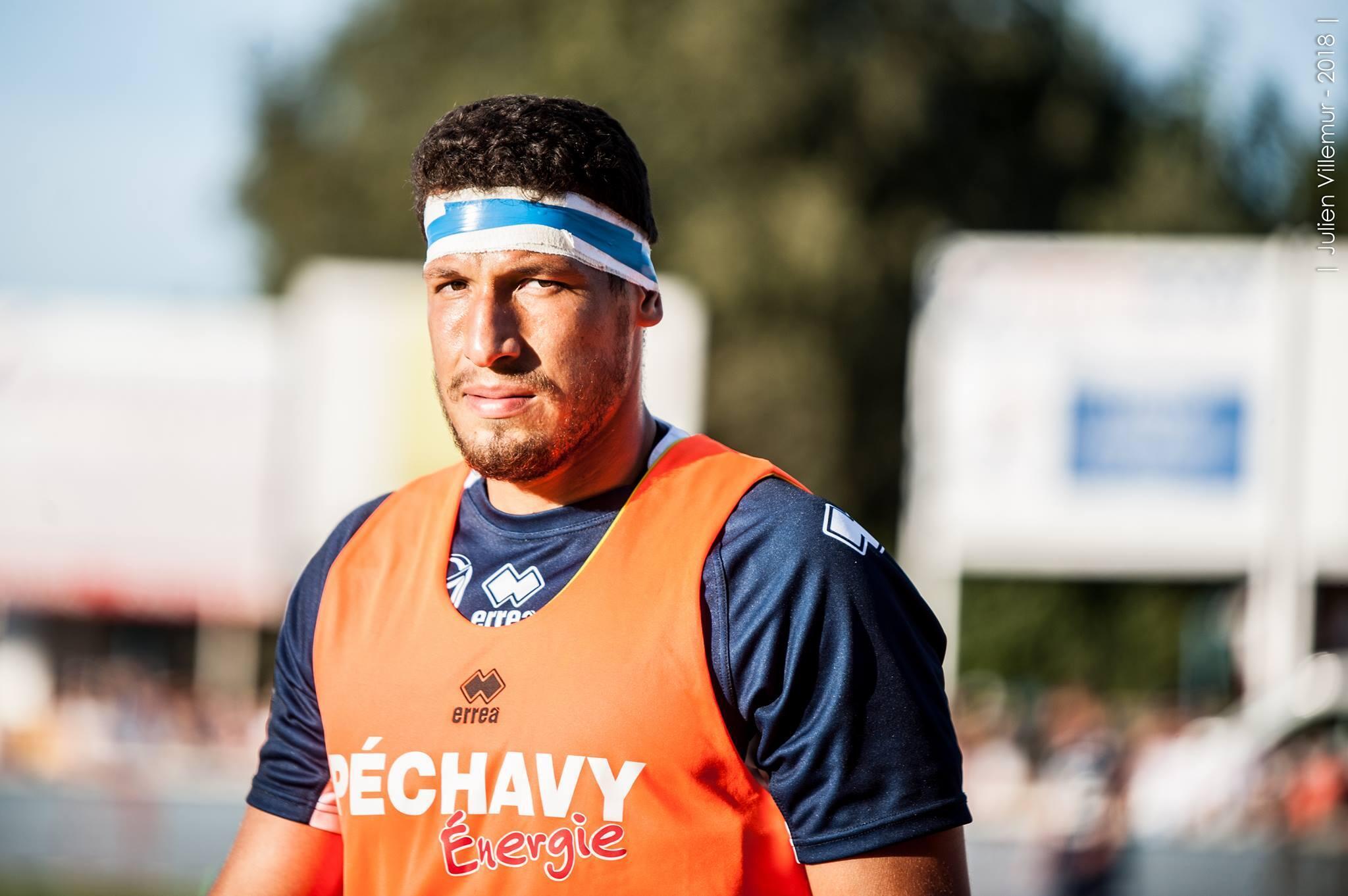 Andrés Zafra, rugbyman colombiano en el Sporting Union Agenais, club que compite en el Top 14 - Francia