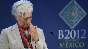 Christine Lagarde, chefe do FMI, durante a reunião do G20 no México.