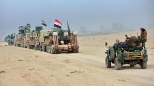Operación ejército iraquí al sur de Mosul el pasado lunes