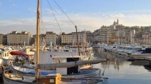 O Porto Velho de Marselha, onde a máscara será obrigatória a partir deste sábado