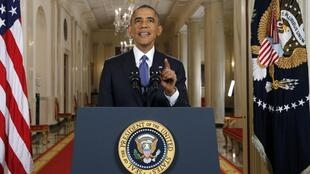 Barack Obama durante su discurso televizado.