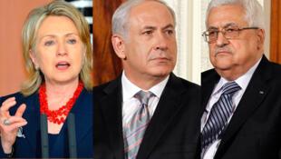Hillary Clinton, Benjamin Netanyahu e Mahmoud Abbas voltam a se reunir hoje em Jerusalém.
