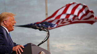 Tổng thống Mỹ Donald Trump tại cuộc mít tinh vận động tranh cử ngày 24/09/2020 ở Jacksonville (Florida - Hoa Kỳ).