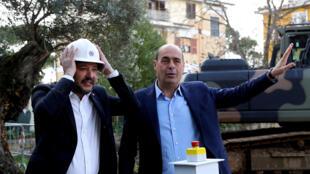Nicola Zingaretti (à droite) a été porté à la tête du parti démocrate italien (PD), de centre-gauche, le 3 mars 2019.