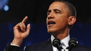 O presidente Barack Obama durante seu discurso nesta quinta-feira.