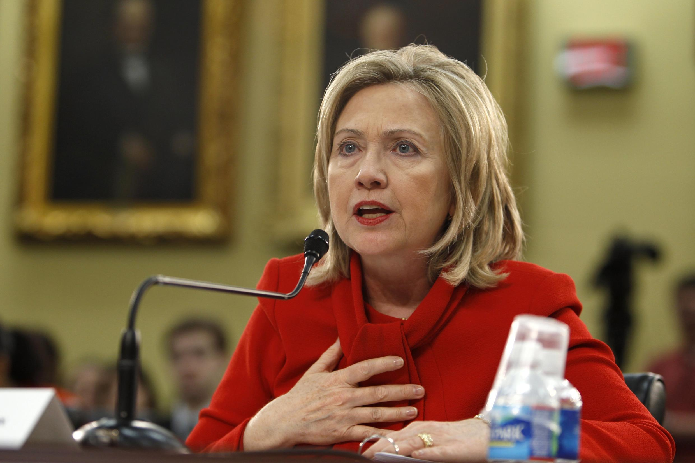 La secrétaire d'Etat, Hillary Clinton, le 10 mars 2011 à Washington.
