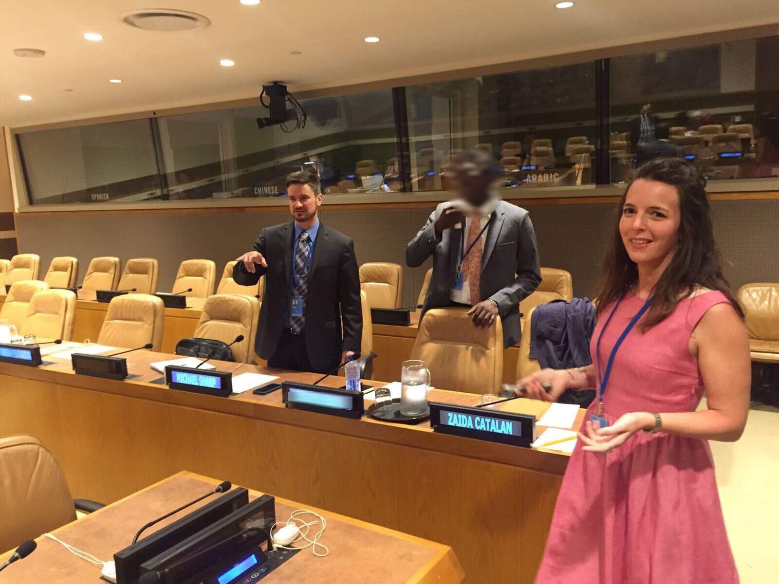 Michael Sharp et Zaida Catalan au Conseil de sécurité. Les experts sont des consultants indépendants mandatés par le Conseil de sécurité.