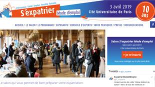 La page d'accueil du site «S'expatrier mode d'emploi».