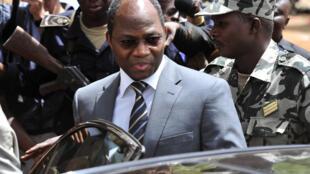 Djibrill Bassolé, lorsqu'il était ministre des Affaires étrangères du Burkina Faso, en déplacement au Mali, le 1er avril 2012.