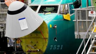 យន្តហោះ 737 Max នៅរោងជាងBoeing ក្រុង Renton វ៉ាស៊ីនតោន សហរដ្ឋអាមេរិក