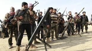 Combatientes del Ejército Libre de Siria, el pasado 19 de febrero de 2013.