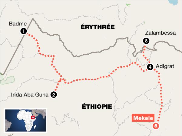 De Badme à Mekele, cinq reportages en Ethiopie le long de la frontière érythréenne.