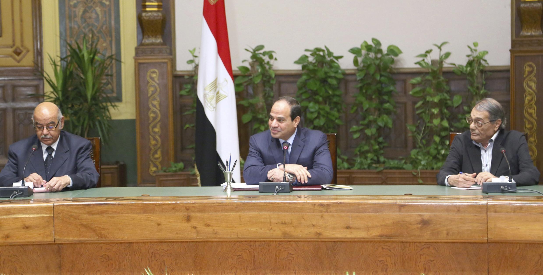 Tổng thống Ai Cập al-Sisi họp báo tại dinh tổng thống ngày 06/07/2014.