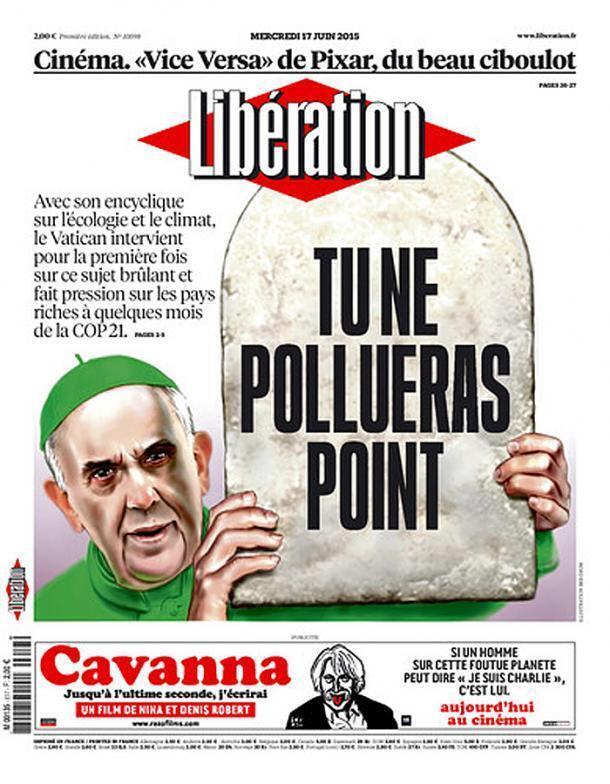 Capa do jornal francês Libération desta quarta-feira, 17 de junho de 2015.