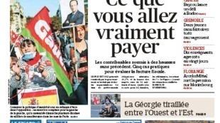 Capa do jornal francês Le Figaro desta segunda-feira, (01)
