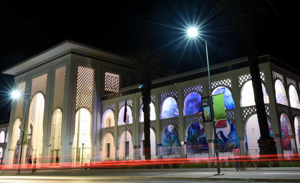 Le nouveau musée Mohamed VI à Rabat, dédié à l'art moderne et contemporain, inauguré après dix ans de travaux le 8 octobre 2014.