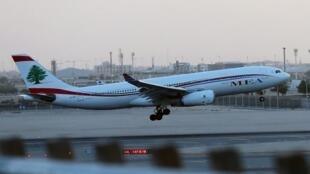 Un avion de la compagnie libanaise Middle East Airlines. L'homme d'affaires libanais a été libéré en Iran et est reparti à Beyrouth avec le patron de la Sûreté.