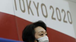 Seiko Hashimoto, presidenta de comité organizador de los Juegos de Tokio, durante una rueda de prensa tras una reunión de la directiva del COI, el 9 de junio de 2021 en la capital japonesa