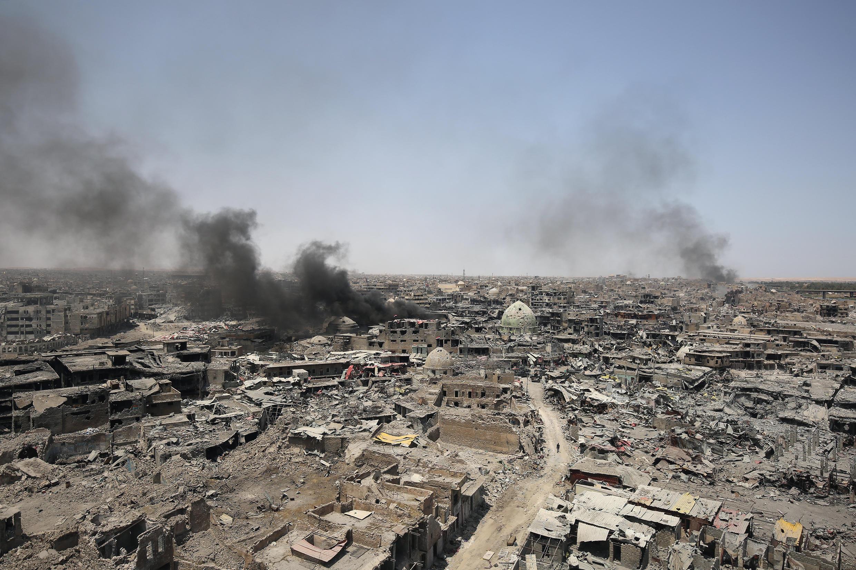 Vista panorâmica de Mossul, no Iraque. 9 de Julho de 2017.