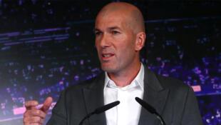 Zinedine Zidane, le coach du Real Madrid, en conférence de presse le 11 mars 2019.