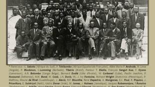 Photo des intervenants au Premier congrès international des intellectuels noirs, Paris 1956