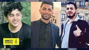 Saïd Tamdjidi, 28 ans, Mohammad Radjabi, 26 ans, et Amirhossein Moradi, 26 ans.