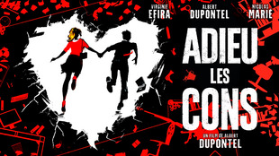 Poster for the film «Adieu les cons» (Bye bye Morons) by Albert Dupontel, which won seven awards at the French annual César cinema awards, 12 March 2021.
