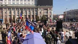 "Военный ""парад"" ДНР в Донецке 24 августа"